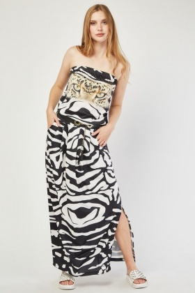 Cheetah Front Maxi Dress