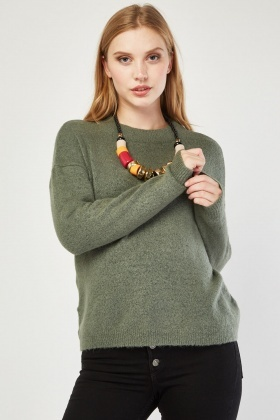 Rib Trim Knit Jumper