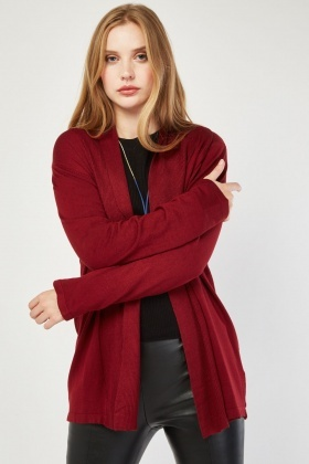 Ribbed Panel Knit Cardigan