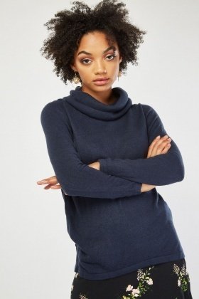 Ribbed Top Panel Fine Knit Jumper