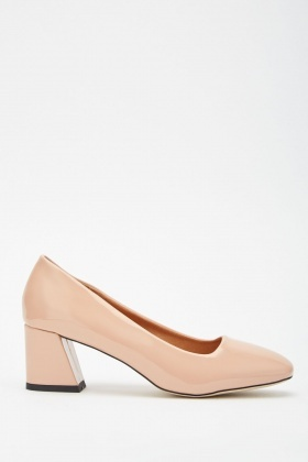 Block Heel Vinyl Pumps