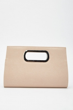 Hi-Shine Chain Strap Clutch Bag