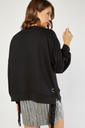 Lace Up Side Sweatshirt
