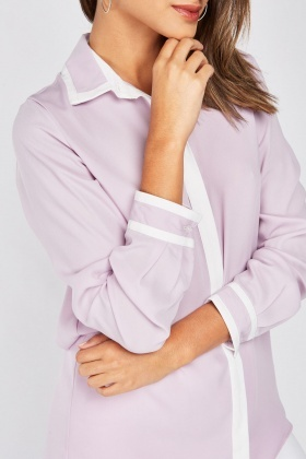 Two Tone Chiffon Shirt