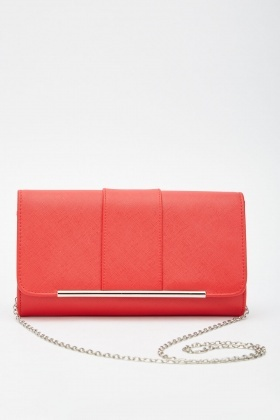 Metal Tip Front Clutch Bag