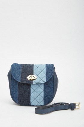 Patchwork Quilted Denim Bag