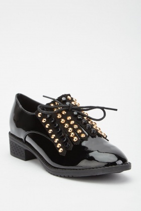 Studded Fringed PVC Brogues
