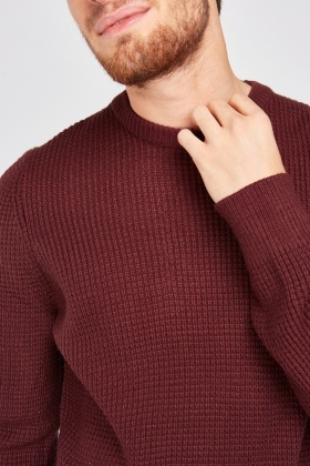 Crew Neck Chunky Jumper