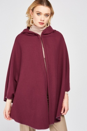 Single Hook Front Hooded Cape