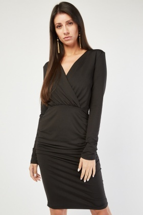Ruched Side Panel Bodycon Dress