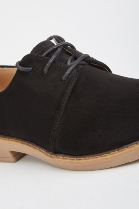 Lace Up Suedette Oxford Shoes