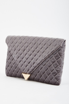Quilted Envelope Clutch Bag