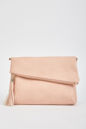 Tassel Trim Foldover Bag