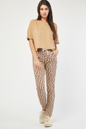 Illusion Print Skinny Trousers