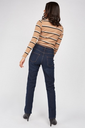 Straight Cut Navy Jeans