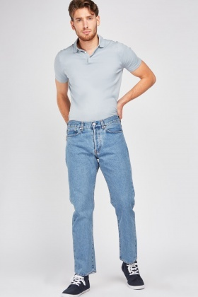 Low Waist Straight Fitted Jeans