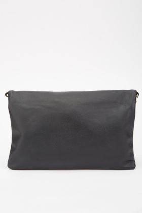 Foldover Tassel Trim Clutch Bag