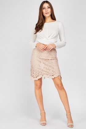 Crochet Overlay Mini Skirt