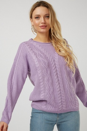 Mix Knit Round Neck Jumper