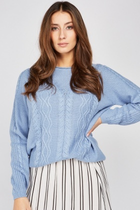 Mix Pattern Knit Jumper