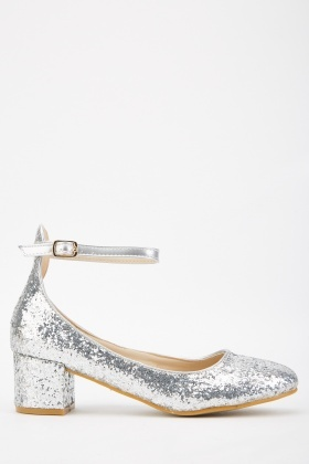 Glitter Encrusted Mary-Jane Heels