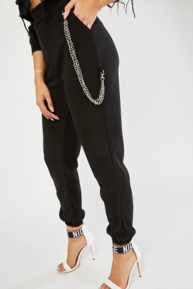 Detachable Chain Trim Trousers