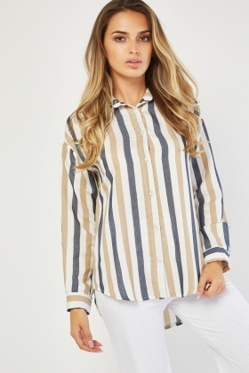 Embroidered Candy Stripe Shirt
