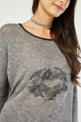 Encrusted Lip Front Speckled Top