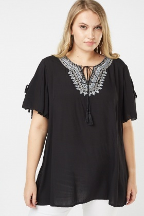 Ethnic Stitched Tunic Blouse