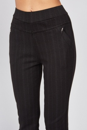 Faded Stripe Tapered Trousers
