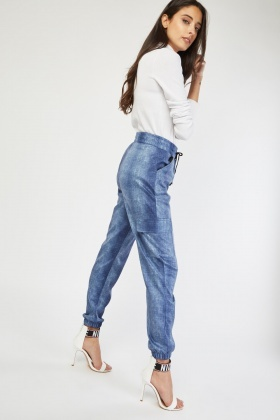 Light Denim Jogger Pants