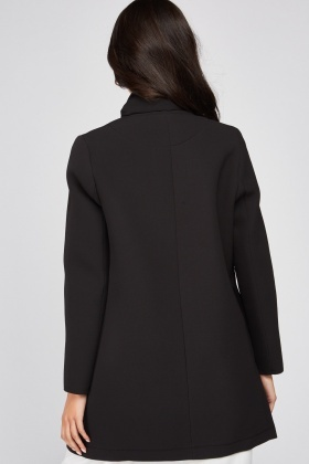 Poppers Front Textured Coat
