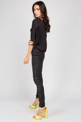 Skinny Faux Leather Trousers
