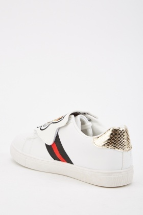 Embroidered Tiger Front Trainers