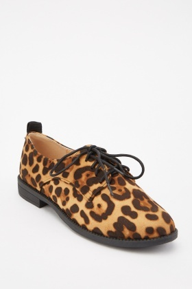 Leopard Pattern Low Heel Shoes