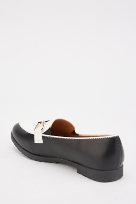 Two Tone Contrast Loafers