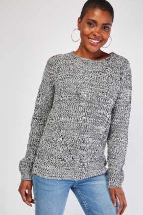 Chunky Speckled Jumper
