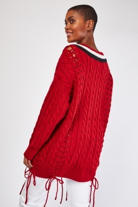 Lace Up Chunky Cricket Jumper