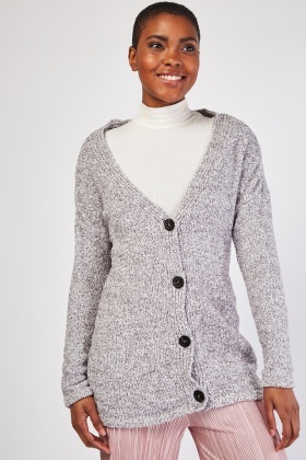 Long Sleeve Borg Cardigan