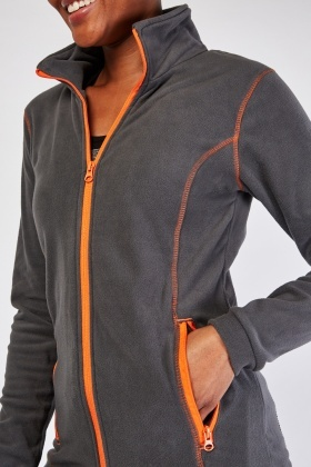Overlock Stitch Fleece Jacket