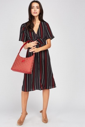 Striped Midi Tea Dress