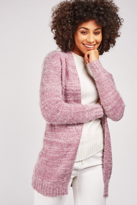 Eyelash Knit Speckled Cardigan