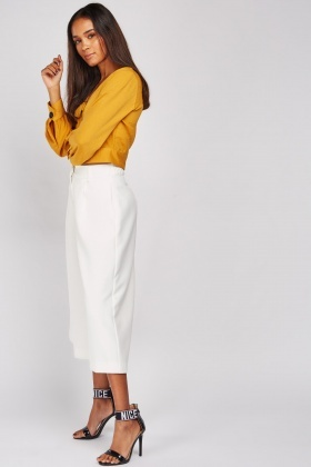 White Culotte Pants