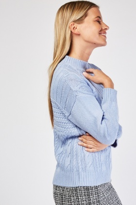 Funnel Neck Knit Jumper