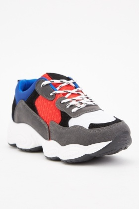Colour Block Chunky Trainers