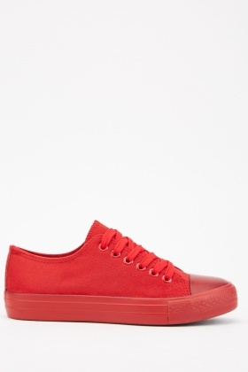 Low Top Suedette Plimsolls