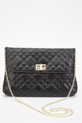 Quilted Envelope Chain Bag