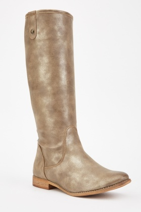 Shimmery Knee High Boots
