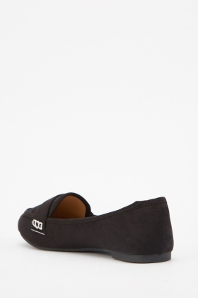 Slip On Suedette Loafers