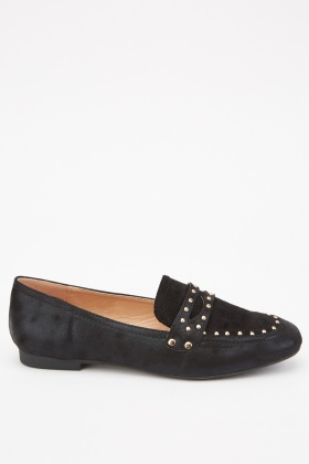 Studded Contrasted Loafers